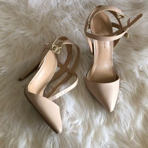 Pointy nude heels by Wild Diva Lounge